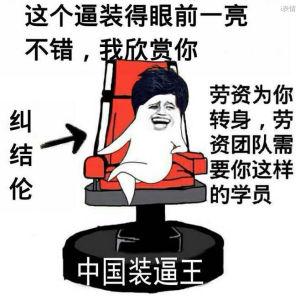 中国装逼王纠结伦:这个逼装得眼前一亮不错我欣赏你,劳资为你转向,劳资团队需要你这样的学员