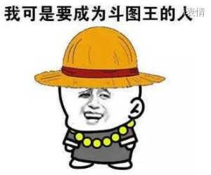 草帽:我可是要成为斗图王的人
