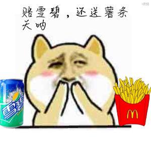 小黄狗吸饮料喝可乐:赔雪碧,还送薯条天呐