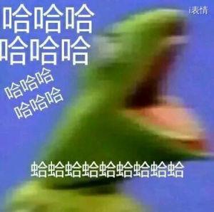 绿色很恐怖的青蛙:哈哈哈哈哈哈