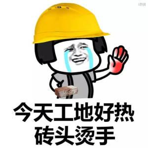 搬砖哭手都红了:今天工地好热,砖头烫手