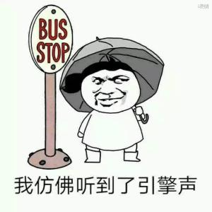 公交站等车:我仿佛听到了引擎声